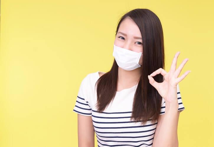 マスクをする