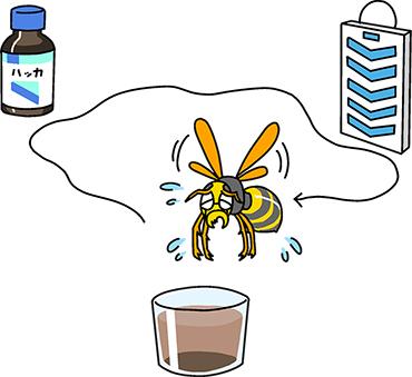 ハチよけグッズで対策